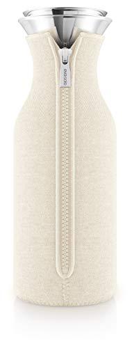 EVA SOLO – Kühlschrankkaraffe skandinavisches Design 1 Liter. Borrosilikat-Glas, Edelstahl, Silikon spülmaschinenfest 100% tropffrei – Birch Woven 1.0 l