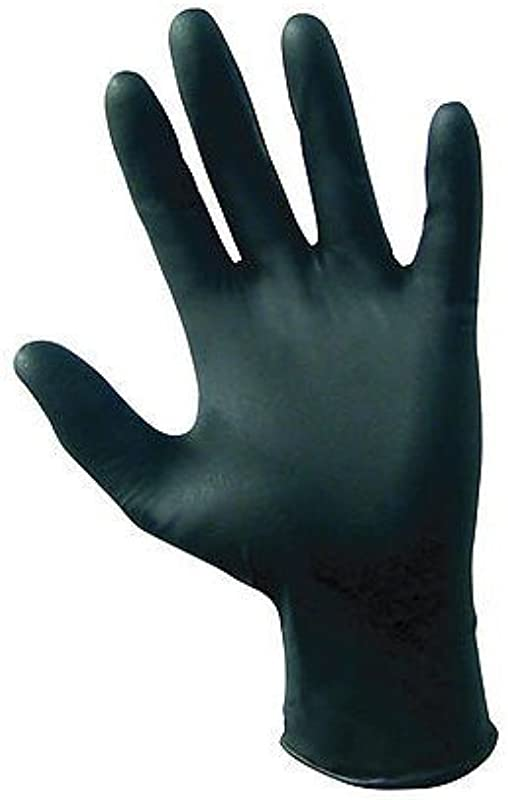 SAS Safety 66518 Raven 6 Mil Black Nitrile Disposable Gloves Large 10 Pack 100 Gloves Per Box