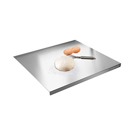 KORVOS Chopping Board Extra Large Stainless Steel Baking Board Commercial Pastry Mat For Rolling Dough To Protect Your Countertop (23.6X12.7 Inch)