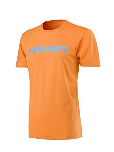 HEAD Kinder Transition Ivan JR T-Shirt, Orange/Light Blue, 128