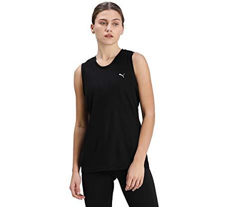 PUMA Camiseta de Tirantes Performance Tank para Mujer, Mujer, Camiseta, 520309, Puma, Negro, Extra-Small