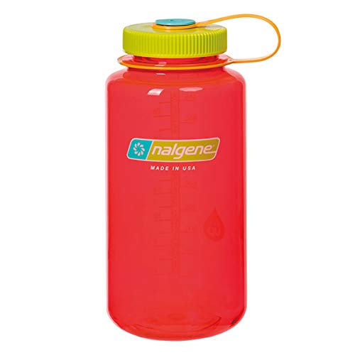 NALGENE ナルゲン 広口 1.0L TRITAN プラスチックボトル 水筒 MADE IN USA(91436 POMEGRANATE)ジャグキャップ登山 サイズ