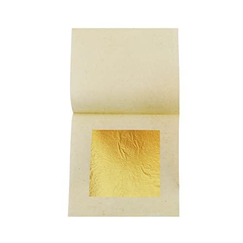 Lámina de oro real comestible Lámina de oro de 24 quilates 10 piezas 4,33 x 4,33 cm para manualidades, alimentos, pasteles, horneado, decoración de pasteles, manualidades con papel de aluminio