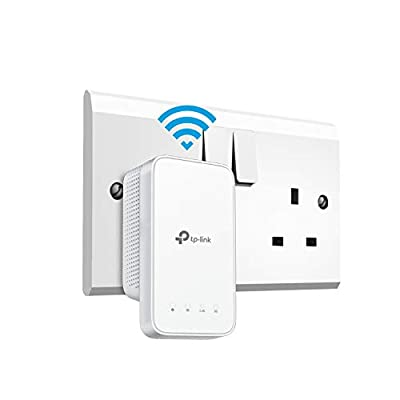 TP-Link RE300 AC1200 Mesh Wi-Fi Range Extender/Wi-Fi Booster/Wi-Fi Repeater(Up to 1200 Mbps), 2 Internal Antennas, Intelligent Signal Light, Power Schedule, LED Control, Tether APP, UK Plug