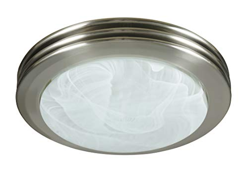 Hunter Home Comfort 90053 Hunter Saturn Decorative Bathroom Ventilation Fan with Light in Brushed...