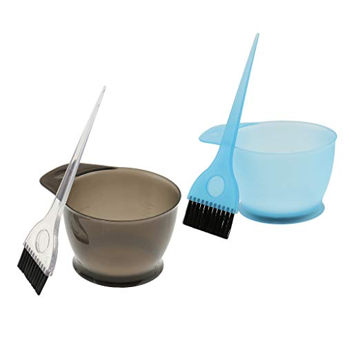 CUTICATE 2pcs Peignes Brosses Bols Pour Coloration Cheveux Teinture Décolorante Coiffures