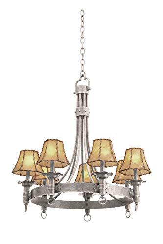 CASAINC Set of 6 Lights Empire Lampshade Small Chandelier