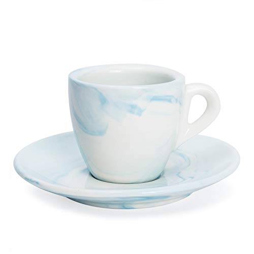 Jarra azul pastel 400 ml Cerámica blanca Working in the