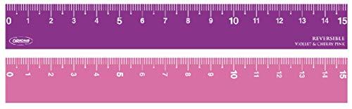 共栄プラスチック 両面カラー定規 15cm目盛 REV-15- (03 ヴァイオレット&ピンク)