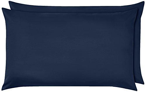 Amazon Basics Pillowcase, Azul marino, 50 x 80 cm