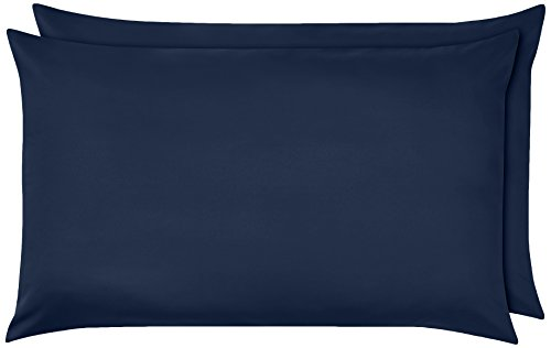AmazonBasics - Federe in microfibra, 50 x 80 cm, Set di due - Blu navy