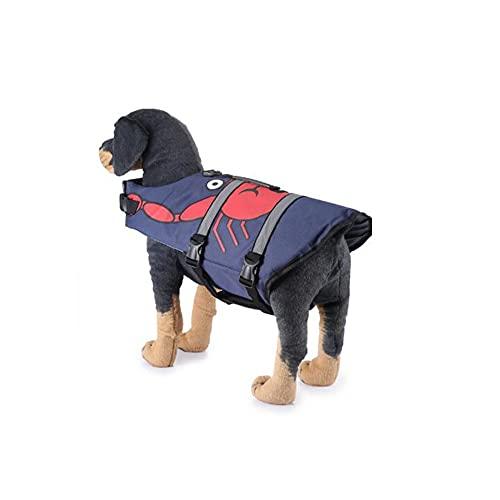 Angelay-Tian Chaleco Salvavidas para Perros Pet Pet, Traje de baño, Traje de Rescate, Traje de baño de Mascotas, Traje de baño de Pokémon Reflectante (Color : A, Size : Medium)