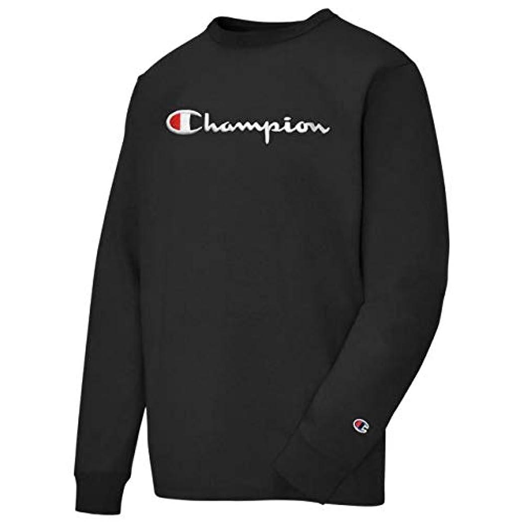 承認再編成するポンド(チャンピオン)Champion Heritage Script Embroidery L/S T-Shirt メンズ Tシャツ [並行輸入品]