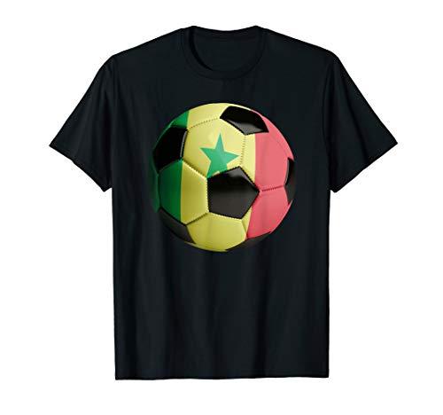 Senegal Fahne Fußball T-Shirt