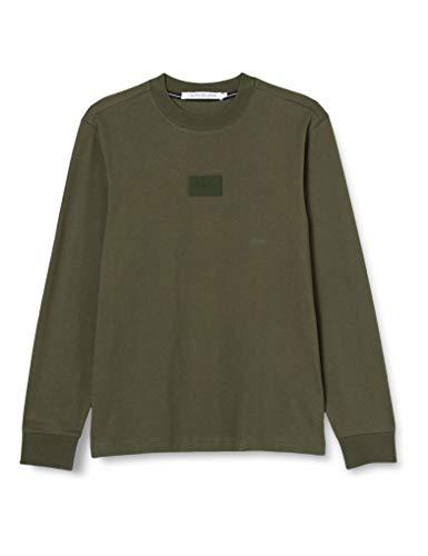 Calvin Klein Center Badge LS Tee Camicia, Deep Depths, XL Uomo