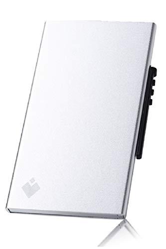 スキミング防止 カードケース クレジットカードケース 磁気防止 スライド式 6枚収納 (シルバー)