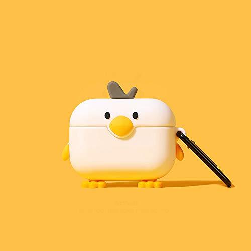 Compatibile con Airpods Custodia, Silicone 3D Simpatico animale Pinguino Pollo Anatra Renna Piggy Divertente Personaggio dei cartoni animati Cover Airpod (AirPods Pro, Pollo)