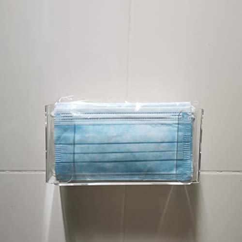 Dowoa Caja de Almacenamiento, Guantes Transparentes, dispensador, Montaje en Pared, mascarilla acrílica Transparente, contenedor para Guantes Desechables