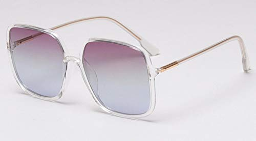 XCLWL Oogkleding Dames Zonnebril Gepolariseerde Rame Transparant Vierkant Vrouwen Zonnebril Voor Rijden Mannen