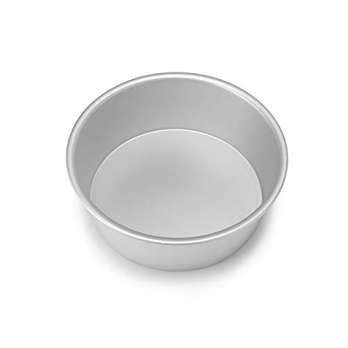 4/6/8 Inch Aluminum Alloy Round Cake Mould Chiffon Cake Baking Pan Pudding Cheesecake Mold Set (Color : 8 inch)