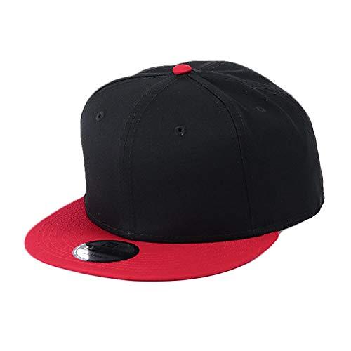 NEW ERA(ニューエラ) キャップ スナップバック 無地 9FIFTY メンズ 帽子 ベースボールキャップ スナップバックキャップ ブラック 黒 レッド 赤 ツートン [並行輸入品]