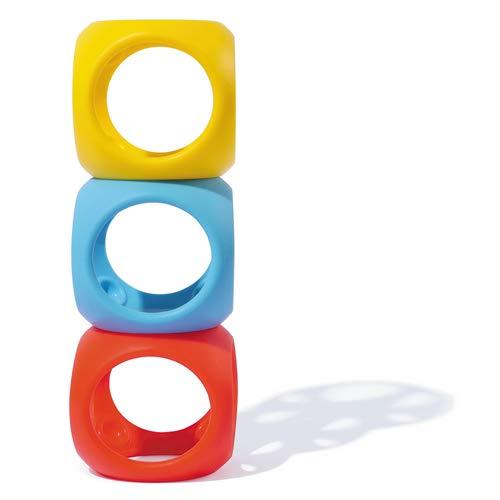 MOLUK Mouk 43420 Oibo Primary - Juguete mordedor y agarrador, Color Amarillo, Rojo y Azul