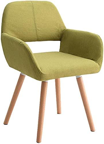 Silla de comedor tapizada Silla de ordenador para sala de juegos, dormitorio, recepción, silla de invitados, sofá individual, reposabrazos, sillón, respaldo, silla informal