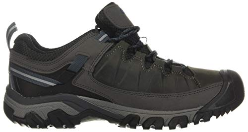 KEEN Men's Targhee 3 Low Height Waterproof Hiking Shoe, Steel Grey/Captains Blue, 11