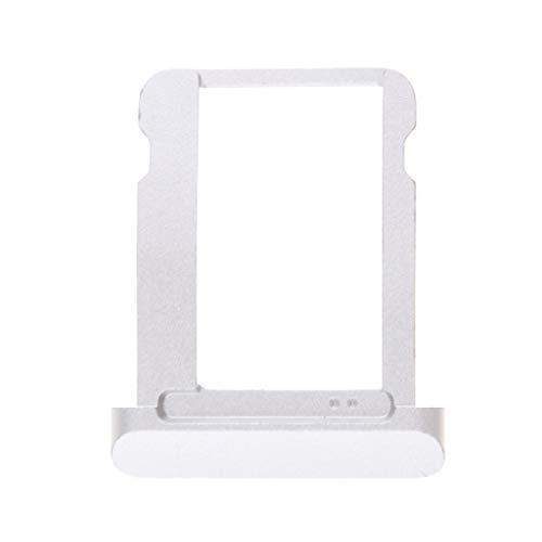 perfk Sostituzione Dell'alloggiamento Supporto di Memoria Scanalatura di Carta di SIM per Apple iPad 2, Argento