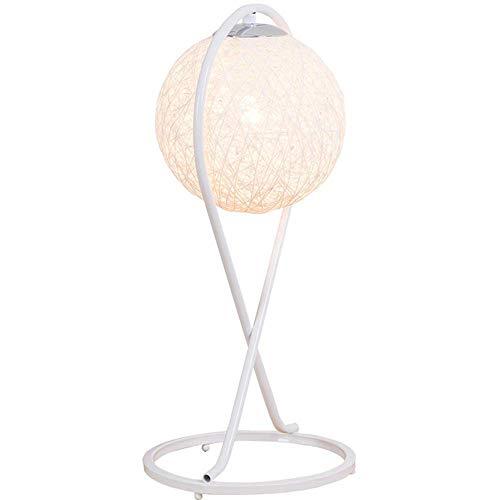 LW Lampe de Table Lampe de Table de Chevet Linge de Maison Moderne Lampe de Bureau en Fer forgé Nordic Warm Salon Décoration de la Chambre Lampe de Table E27 Support de Lampe,White