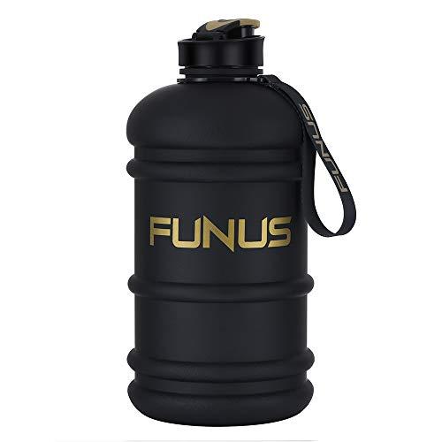 SOCOO Trinkflasche Sport 2,2L Bottle BPA frei Wasser Flasche, Sportflasche, Schule, Fahrrad (Schwarz)