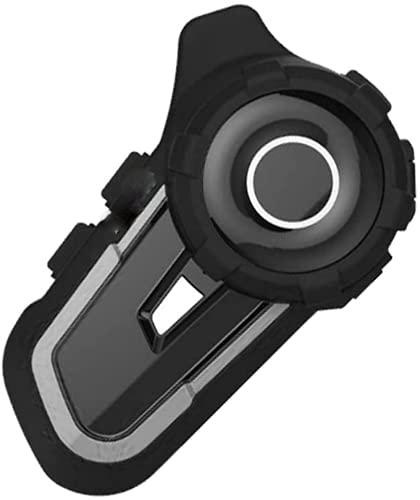 Intercomunicador Bluetooth para motocicleta, 800 m, sistema de comunicación de auriculares impermeables, para casco de motocicleta, intercomunicador Bluetooth (gris, 1 unidad)