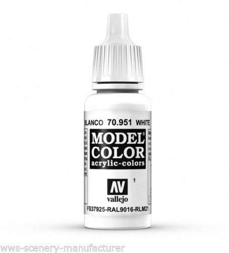 War World Gaming Vallejo Model Color White - White 70.951 - Wargame Miniature Figure Painting Assortment Modelling Wargaming Hobby Tabletop Model Paint Collection