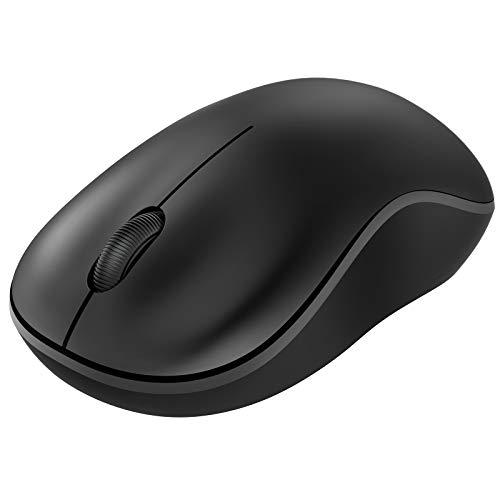 NULAXY Bluetooth Maus, 2,4 G Kabellose Maus Bluetooth Dual Modus (Bluetooth 5.0+USB), Laptop Maus mit USB Empfänger, Computermaus für Laptop, MacOS, PC, Windows, Android (schwarz)
