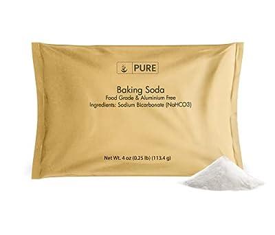 Sodium Bicarbonate by Pure Organic Ingredients (4 oz.), Baking Soda, Highest Purity, Food & USP Grade