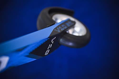 4KAAD, The Nordic Sports brand, carbon skate roller ski V10 blue, rubber skate roller 100 mm, aluminium rim (blue).