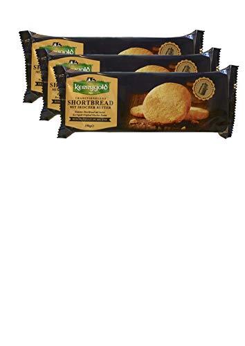 Kerrygold Shortbread Original - Irish Butter Biscuits - Traditionelles Irisches Mürbeteiggebäck, 3x150g