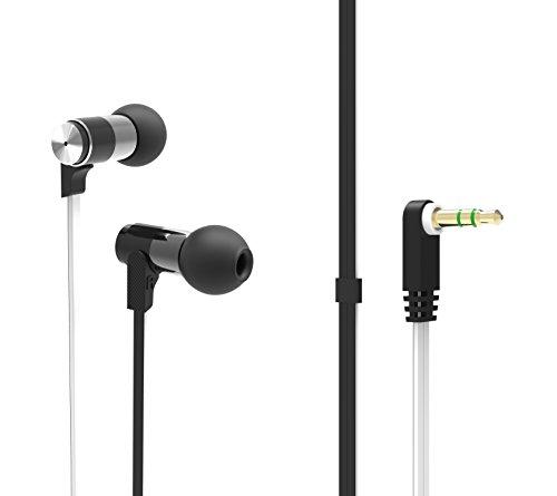 BSX Audio Basix Earphones, Black and White