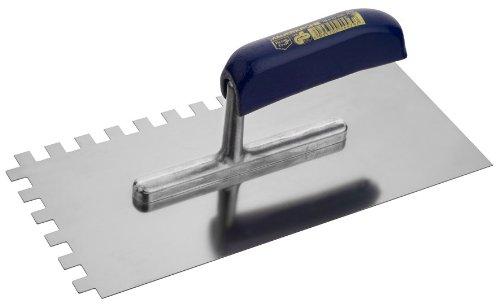 Connex COX781238 Zahnglättekelle, rostfrei, Zahnung rechts und vorne, Größe 280 x 130 mm, Zahnung 10 x 10 mm