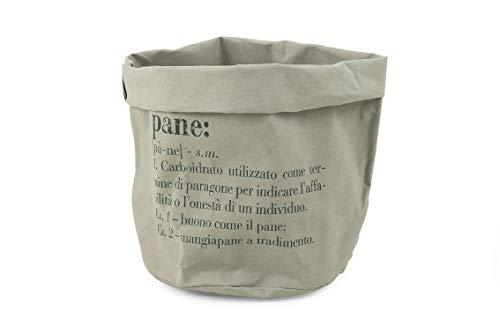 Villa d'Este Home Tivoli victionary mand Pane Medio grijs, papier, Ø 18 x H. 24 cm