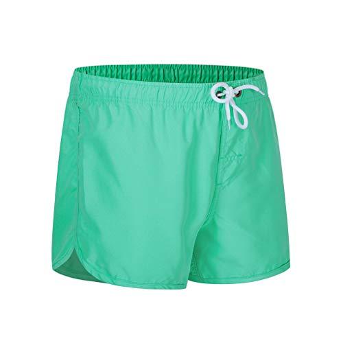 MOTOCO Herren Shorts Badehose schnell trocken Strand Surfen Laufen Schwimmen elastische Taille gespleißt Watershort Hose(L,Minzgrün-2)