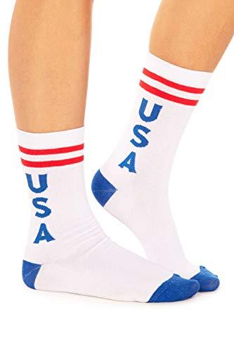 Tipsy Elves Damen Socken USA Rot Weiß Blau Patriotische Socken - Weiß - Einheitsgröße