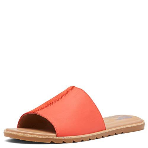 Sorel Ella II Block Slide Sandals for Women - Signal Red - Size 6.5