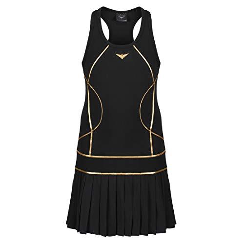 Tenniskleid für Mädchen, schwarz, plissiert, Junior-Tenniskleid, Mädchen-Team-Tennis-Outfit, Golfkleid, Sportbekleidung für Mädchen Gr. 7-8 Jahre, Schwarz