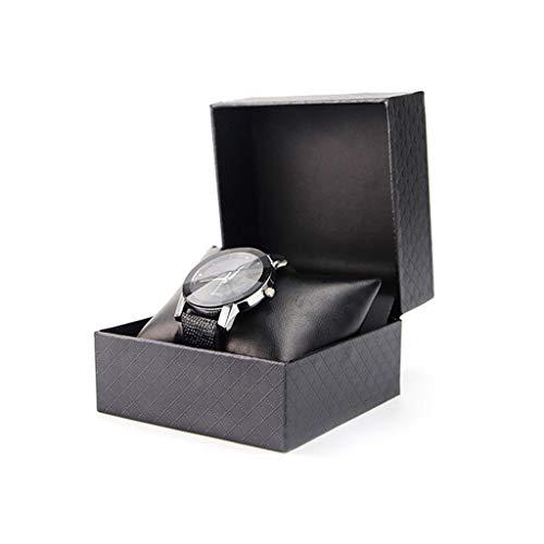 Aiglen 3 Stück PU Lederuhr Aufbewahrungsbox Schutzuhren Schmuck Einzelzubehör Halter Fall Reise tragbar mit Kissen Kissen