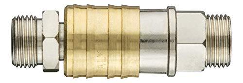 Snelkoppeling voor compressor met eindstuk, buitendraad 3/8