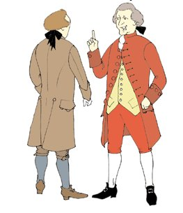 Men's 1770's to 1780's Frock Coat, Colonial or Pirate Coat Pattern
