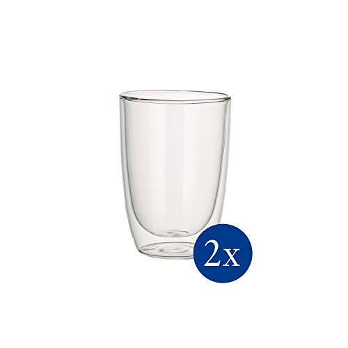 Villeroy & Boch Artesano Hot & Cold Beverages Becher Universal, 2er-Set, 390 ml, Borosilikatglas, Klar