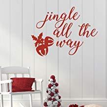 Calcomanía de pared de Navidad para decoración de sala de estar o casa