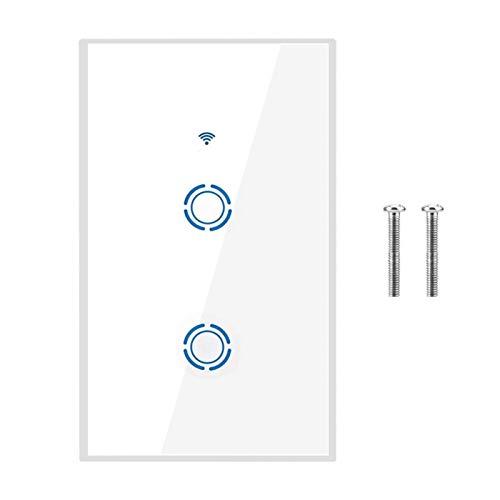 WIFI-Touch-Schalter, Sicherheitsschutz Flexibler intelligenter Wandlichtschalter, Badezimmer-LED-Licht Wohnzimmerlampe für Schlafzimmer(2 way)